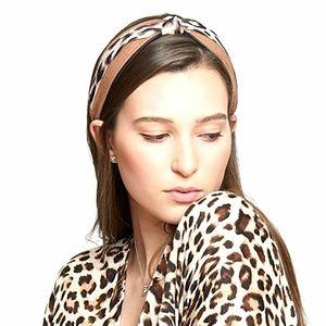 Tigerstars Chic Brown Leopard Pattern Knotted Head